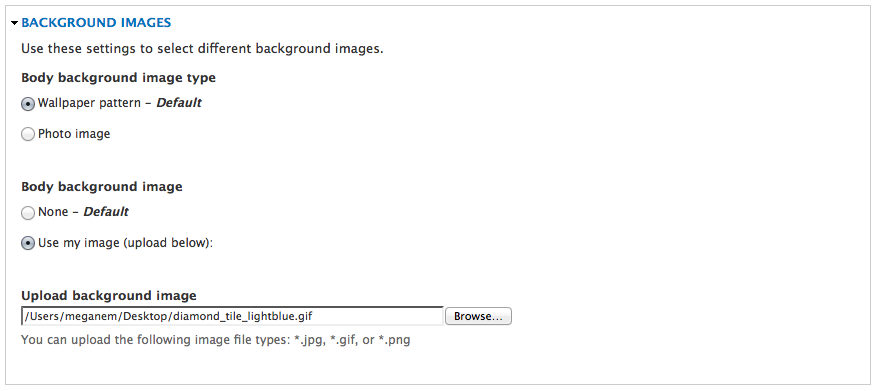 Adding a repeatable background image
