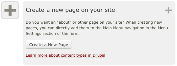 Create a new page on your site