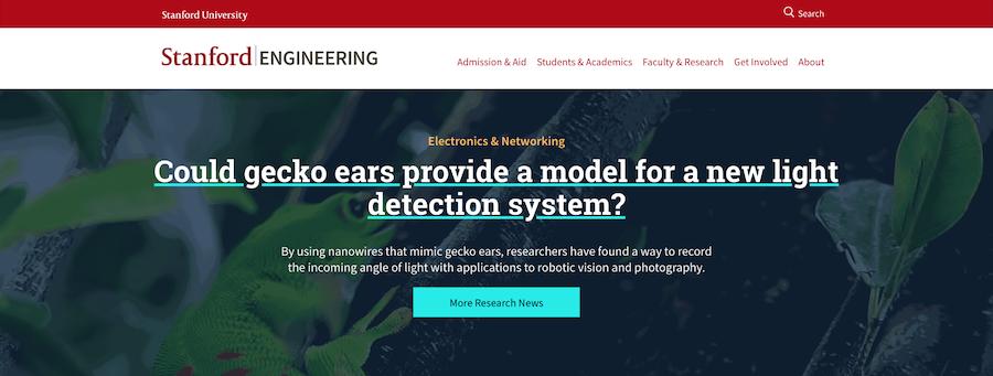 screenshot of soe homepage