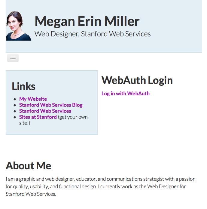 Example site - smaller screen