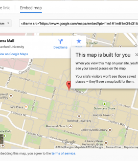 Getting Started on Sites: How to Add a Google Map to your