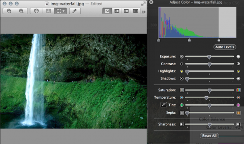 Levels and color balance in Preview