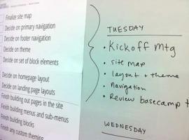 Sprint week planning board